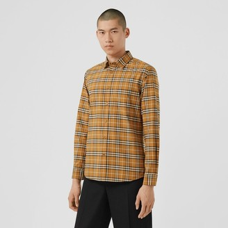 Burberry Sma Scae Check Stretch Cotton Shirt