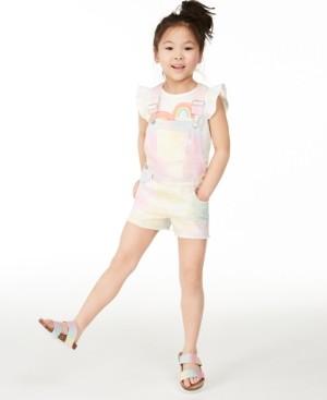 Epic Threads Little Girls Rainbow Heart Flutter-Sleeve T-Shirt, Created for Macy's