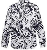 Club Monaco Slim-Fit Button-Down Collar Printed Linen Shirt