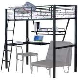 ACME Furniture Senon Kids Loft Bed with Desk - Silver and Black(Twin) - Acme