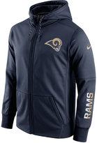 Nike Men's Los Angeles Rams Circuit Full-Zip Hoodie