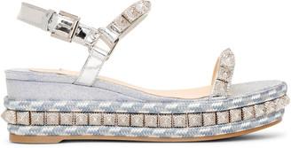 Christian Louboutin Pira Ryad 60 glitter flatform sandals