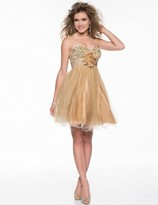 Nina Canacci - 26220 Dress in Gold