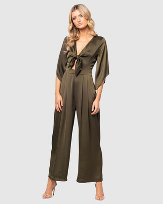 Pilgrim Women's Green Jumpsuits - Cali Jumpsuit - Size One Size, 14 at The Iconic