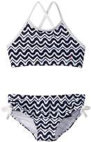 Nautica Girls' Wave Stripe Bikini Set