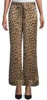 Equipment Leopard-Print Silk Pajama Pants