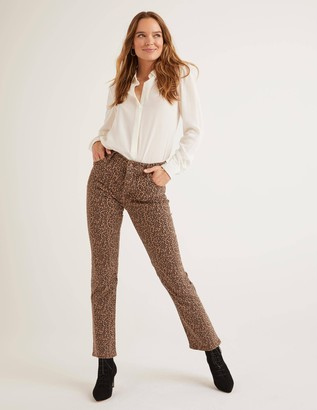 Printed Straight Jeans