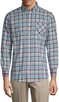 Ben Sherman Men's Plaid Button-Down Shirt