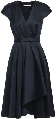 Jason Wu Wrap-effect Pleated Satin-twill Dress