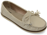 Beige Bow Moccasin