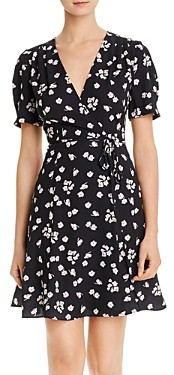 French Connection Attela Floral Mini Crossover Dress