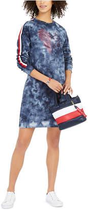 Tommy Hilfiger French Terry Tie-Dye Sweatshirt Dress