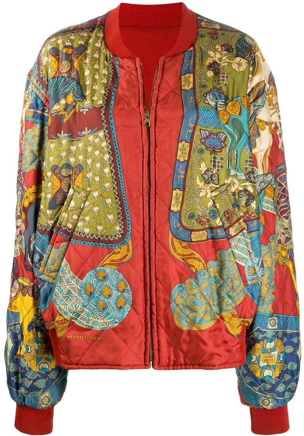 Hermes Pre-Owned Double Face bomber jacket