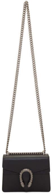 Gucci Black Super Mini Dionysus Chain Shoulder Bag