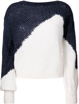 DELPOZO bicolour knitted top