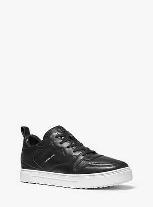 Michael Kors Baxter Leather Sneaker - Black
