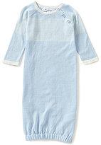 Angel Dear Baby Boys Newborn-3 Months Striped Gown