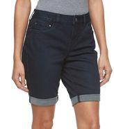 Croft & Barrow Petite Cuffed Jean Bermuda Shorts