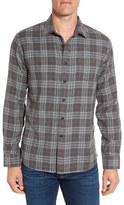 Grayers Men's Duchamp Trim Fit Plaid Double Woven Sport Shirt