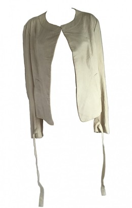 Yohji Yamamoto \N Ecru Leather Jackets