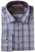 James Tattersall Cotton Plaid Dress Shirt