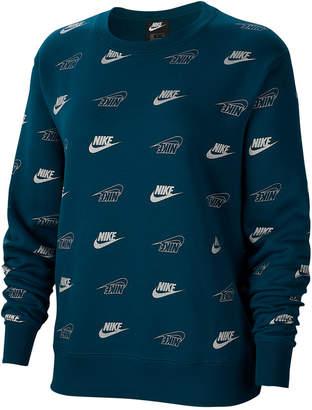 Nike Women Sportswear Shine Metallic-Print Sweatshirt