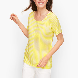 Talbots Mixed Stripe Center Seam Tee