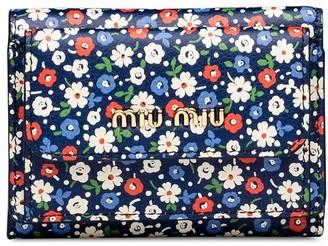Miu Miu floral print wallet