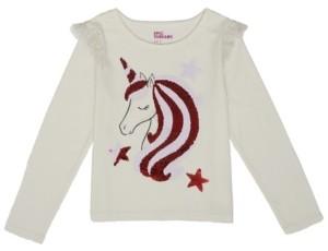 Epic Threads Little Girls Long Sleeve Unicorn Flip Sequin Tee