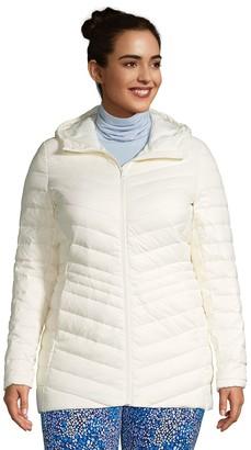 Lands' End Plus Size Hood Ultralight Down Packable Jacket