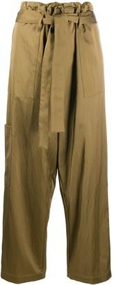 Jejia Multi-Pocket Tie-Waist Trousers