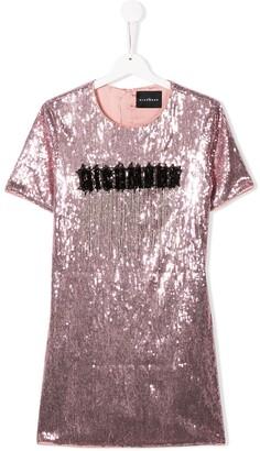 John Richmond Junior TEEN sequinned T-shirt dress