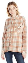Volcom Juniors Oldie N Goodie Long Sleeve Flannel Plaid Shirt