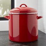 Crate & Barrel Red 16-Qt. Stockpot