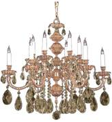 Crystorama 2512-Ob-Gt-Mwp Oxford 12 Light Golden Teak Crystal Chandelier