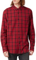 Topman Men's Check Flannel Shirt