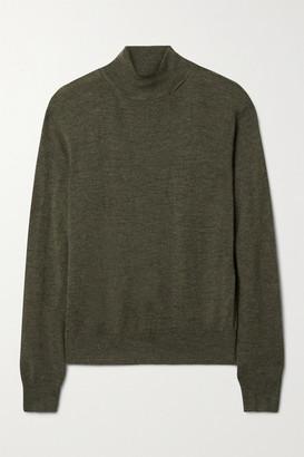 Nili Lotan Bella Cashmere Turtleneck Sweater - Army green