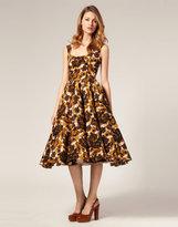 ASOS SALON Prom Dress in Gem Floral Print