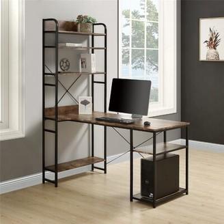 Inbox Zero Desk Color (Top/Frame): Black/Black