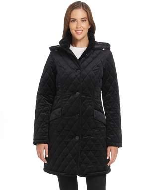 Ellen Tracy Women's Velvet Quilted Walker Jacket