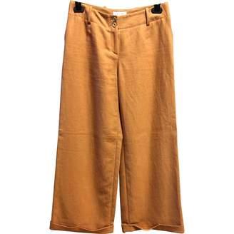Celine Orange Linen Trousers