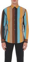 Salvatore Ferragamo Multi-striped Derby-fit cotton shirt