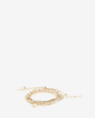 Express Cubic Zirconia Multi-Layer Pull-Cord Bracelet