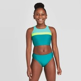 Speedo Girls' 2pc Linear Logo Bikini Set -
