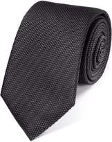 Charles Tyrwhitt Charcoal Silk Plain Classic Tie Size OSFA