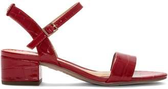 Sam Edelman Textured Ankle-Strap Sandals