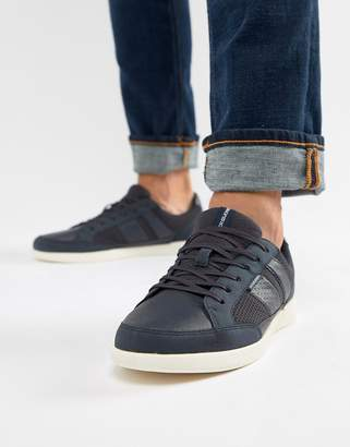 Jack and Jones trainers with panel detail-Navy