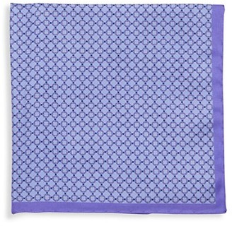 Saks Fifth Avenue Made In Italy Circle-Print Silk Pocket Square