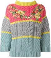 Antonio Marras floral embroidered jumper