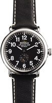 Shinola S0100020 The Runwell unisex stainless steel and leather watch